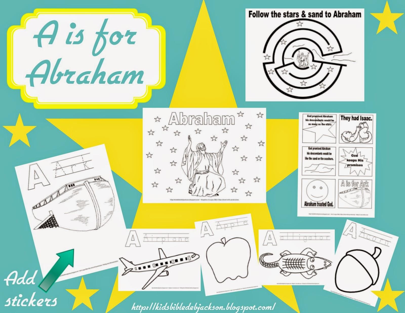 Bible Fun For Kids Preschool Alphabet A Is For Abraham