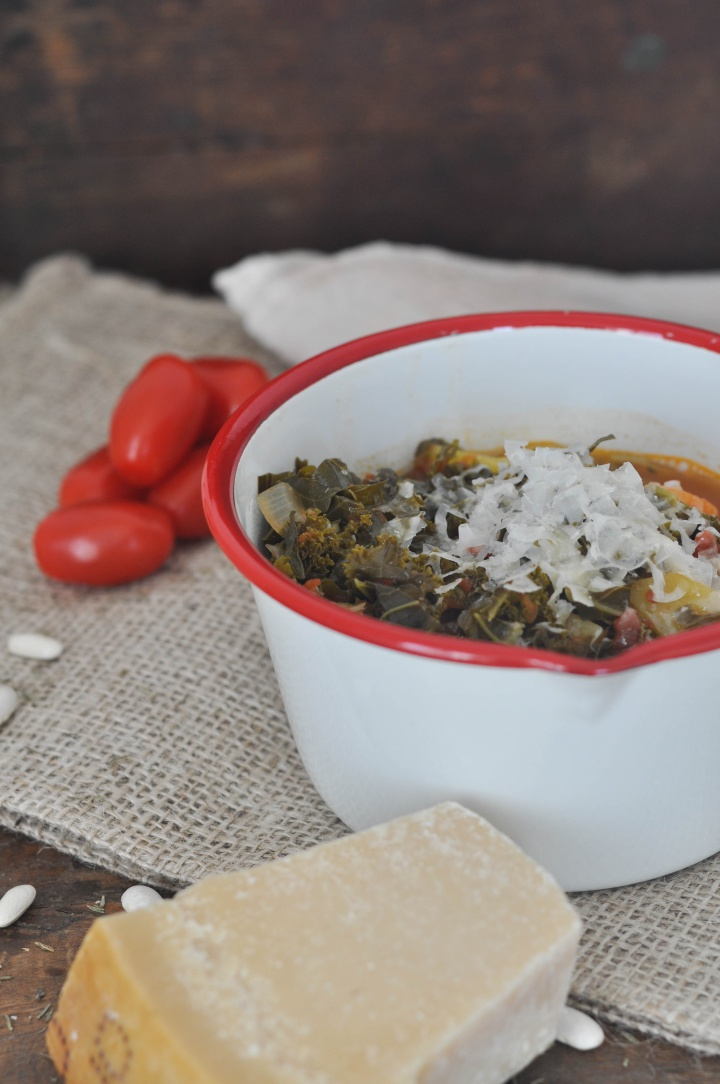 gluten free Ribollita with kale, a warming soup for winter