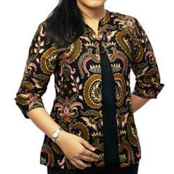 Model Atasan Batik Kerja Kombinasi Polos Model Batik 2019