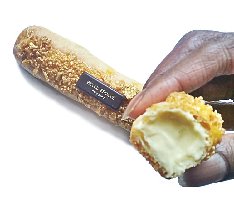 Gold eclair - belle epoque patisserie