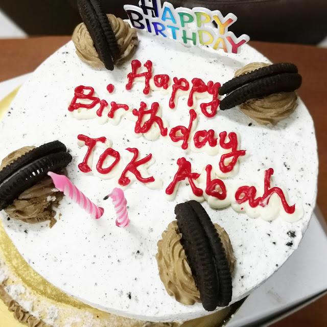 Kek Birthday Abah Dari Ajwa Bakeri Subang