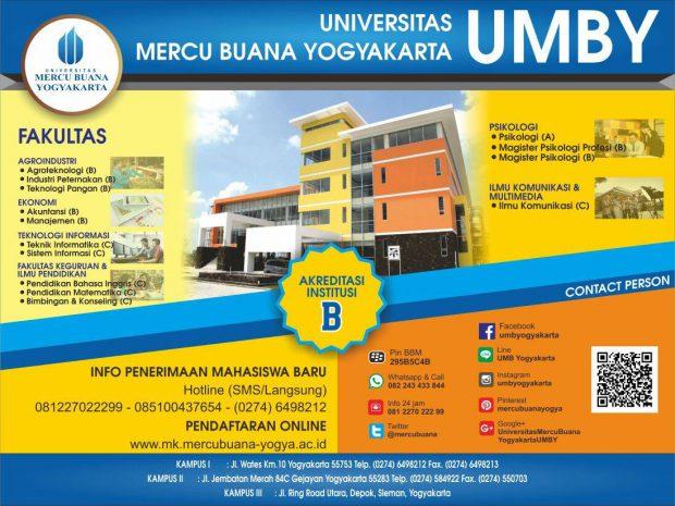 Informasi Pendaftaran Mahasiswa Baru Universitas Mercu Buana Yogyakarta 2017-2018