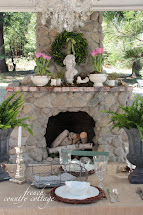 Outdoor Spring Mantel - French Country Cottage
