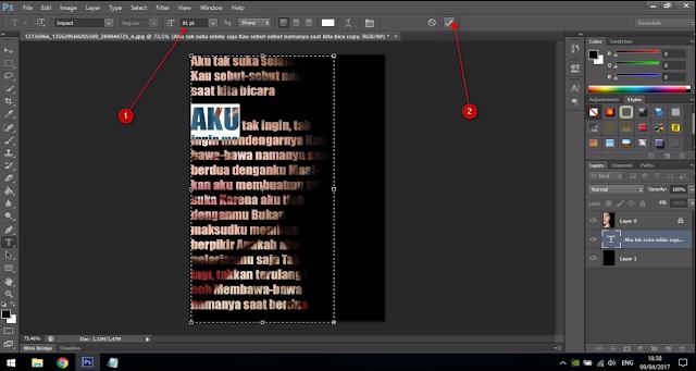 Cara Membuat Text Portrait Pada Wajah (Typography) 13