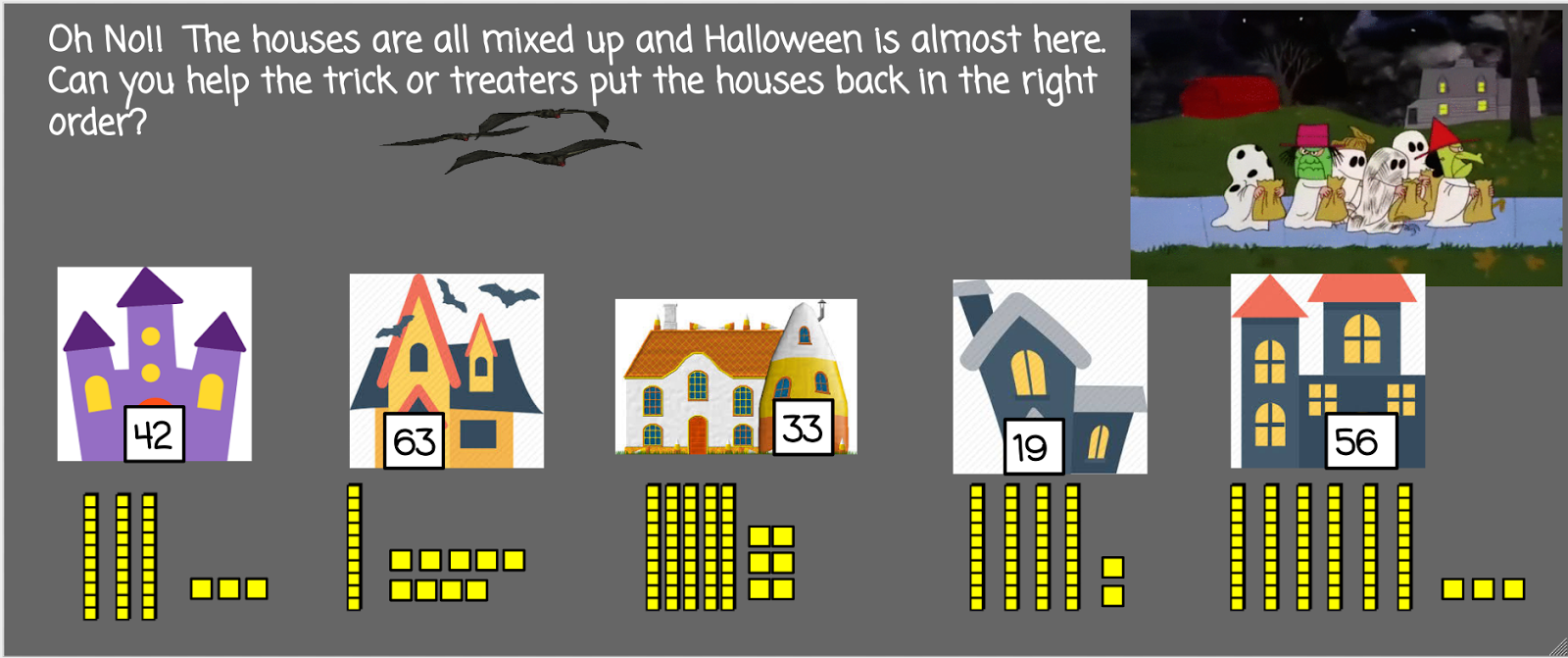 My Chromebook Adventures In First Grade Trick Or Treat Place Value