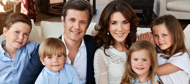 Crown Princess Mary and Crown Prince Frederik, Prince Christian, 9, Princess Isabella, 7, and twins Prince Vincent and Princess Josephine