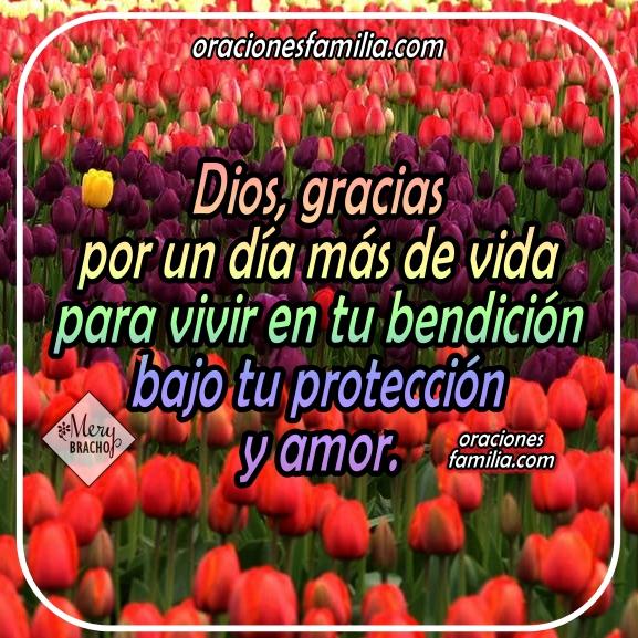 Oración para que Dios me ayude y me bendiga en este día. Imágenes con oraciones para la mañana, inicio del día en oración corta por Mery Bracho.
