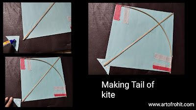 How to make kite, step by step tutorial for to make kite, easy tutorial for to make kite, easy tutorial for to make kite, easy steps for kite making, indian festival kite, how to make kite on makar Sankranti, paper kite, easy tutorial for to make kite