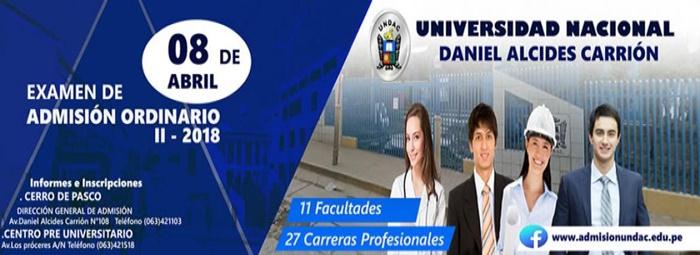 Examen de Admisión UNDAC