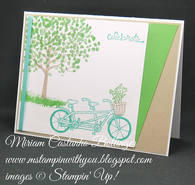 Miriam Castanho-Bollinger, #mstampinwithyou, stampin up, demonstrator, ppa, all occasions card, pedal pusher stamp set, sheltering tree stamp set, good greetings stamp set, su