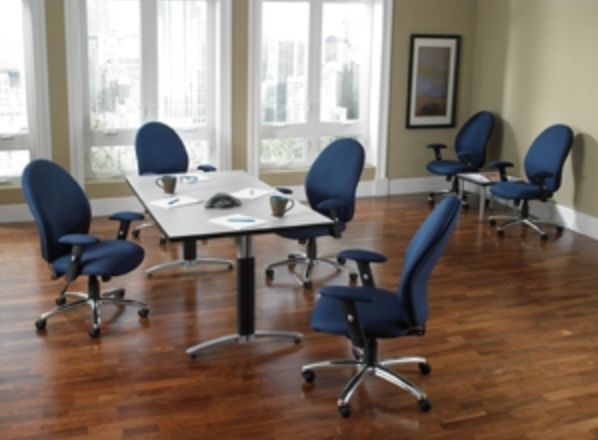 Metal Contemporary Laminate Conference Table by OFM
