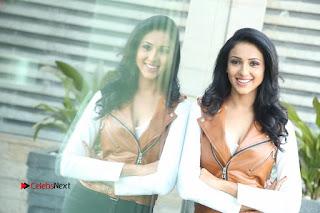Priya Shri beautiful sexy cleavages in a deep neck shirt at Kamar-Film-Factory-Logo
