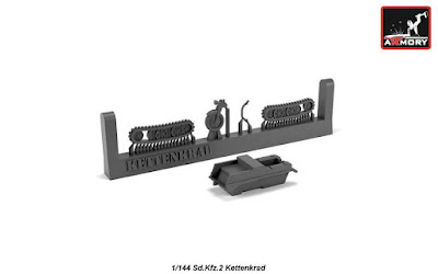 AR M14202 - 1/144 Sd.Kfz.2 Kettenkrad, resin kit picture 1