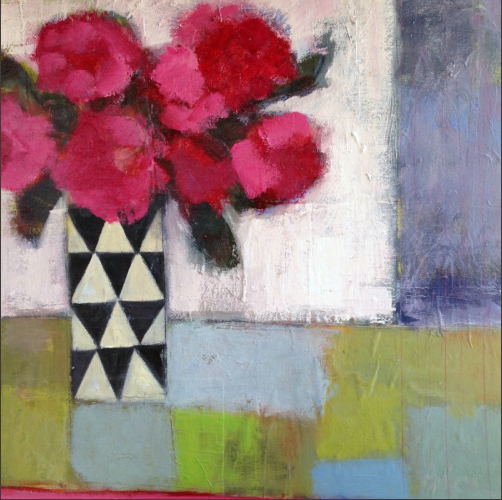 Still life artists international contemporary abstract for Modern flower paintings