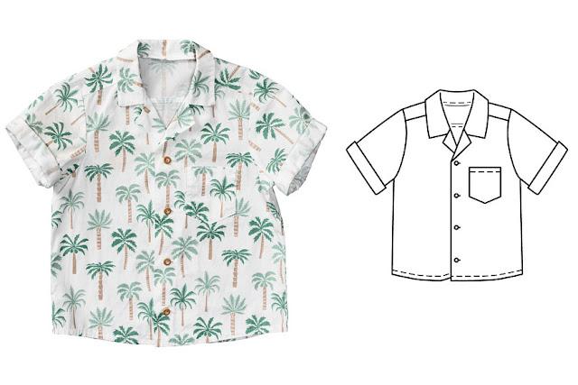 Burda 7 2018 çocuk erkek gömlek