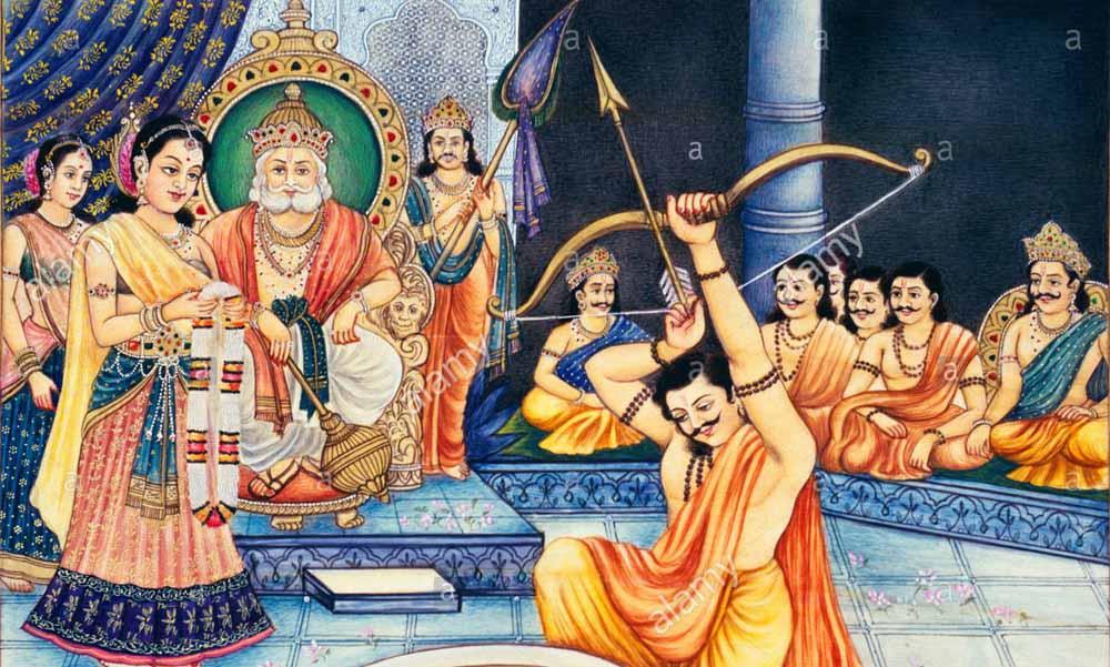 Image result for மகாபாரதத்தில் அர்ஜுனன் வில் சுயம்வரம்