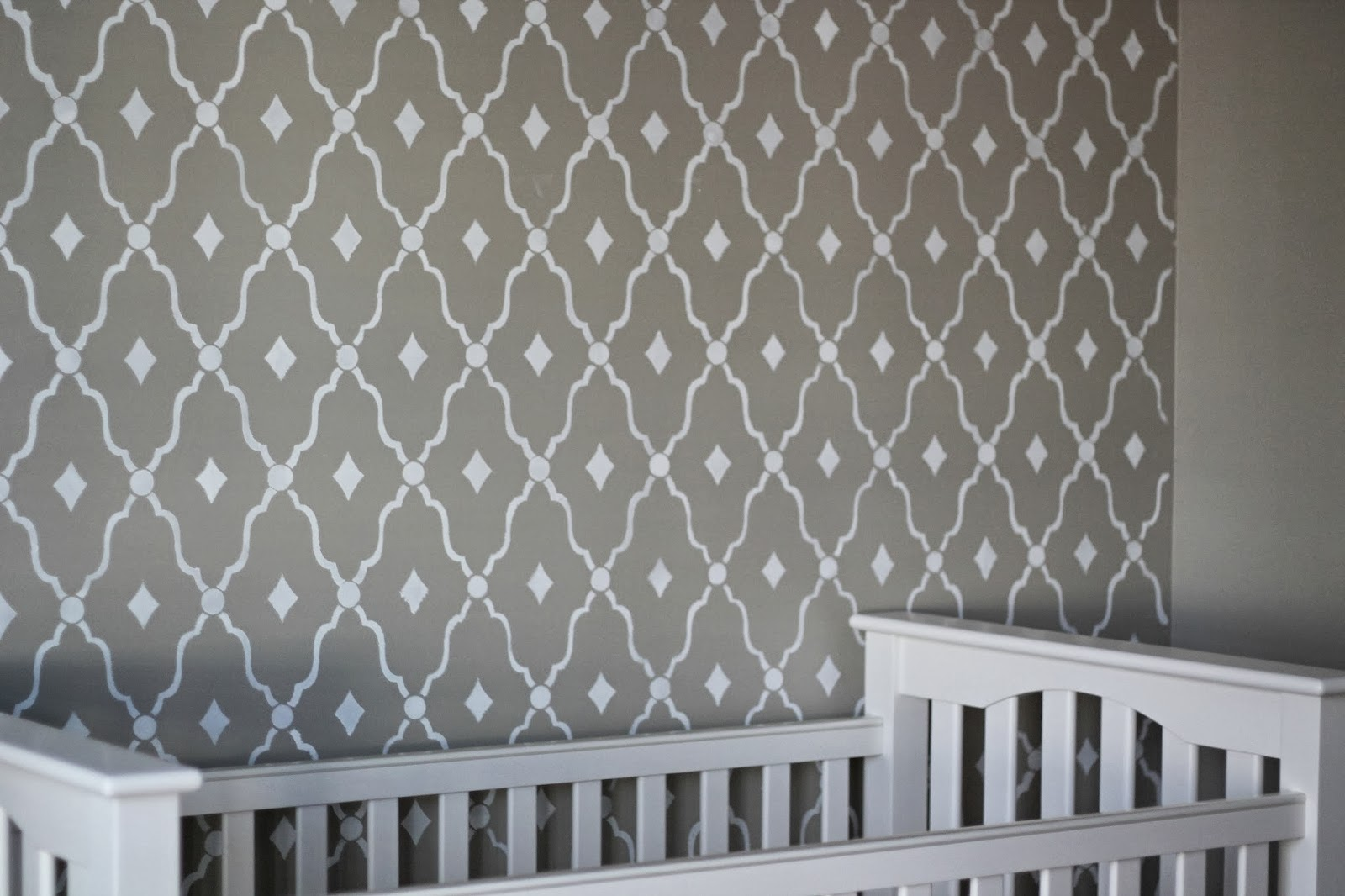 Nursery Updates {DIY Stenciled Wall}