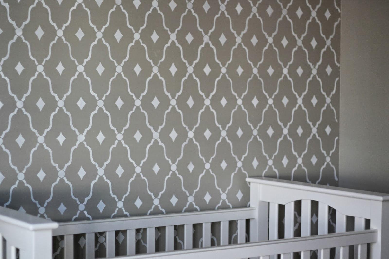 New Nursery Updates {DIY Stenciled Wall} - Carolina Charm UG17