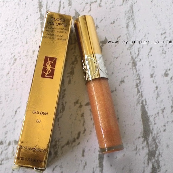 Review Yves Saint Lauret Gloss Volupte Golden #30
