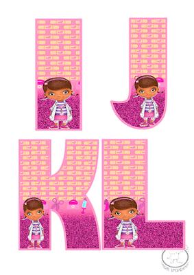 abecedario de doctora juguetes para imprimir