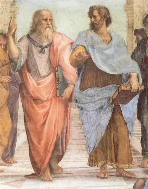 Platón y Aristóteles, por Rafael Sanzio