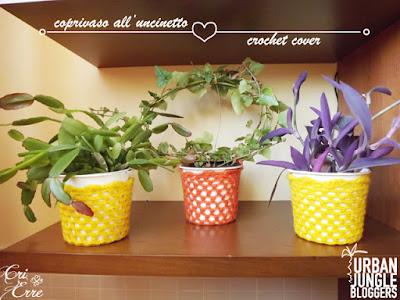 Risultati immagini per vasi e coprivasi crochet