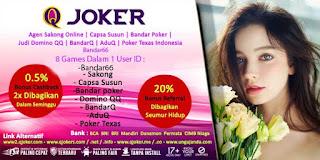 Bonus QJoker Agen Bandar66 Online Terpercaya - www.Sakong2018.com