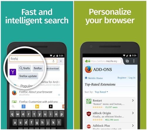 aplikasi browser firefox for android