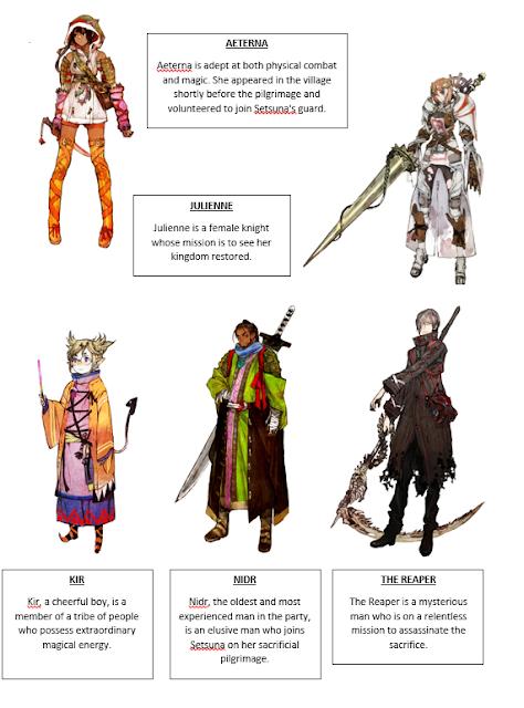 I am Setsuna prepara su lanzamiento y comparte información de los personajes y arte 1