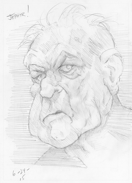 Pencil sketch - Copyright - 2015 - Jephyr