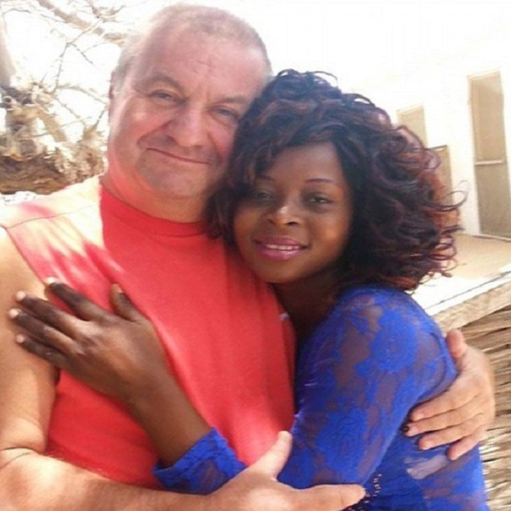 Black woman with  white older husband