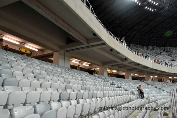 Cluj Arena-interior details of seat rows