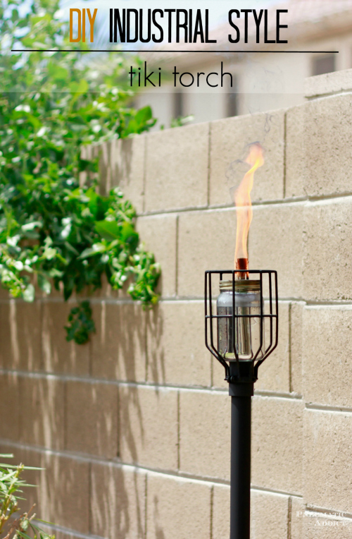 Industrial style tiki torch DIY tutorial
