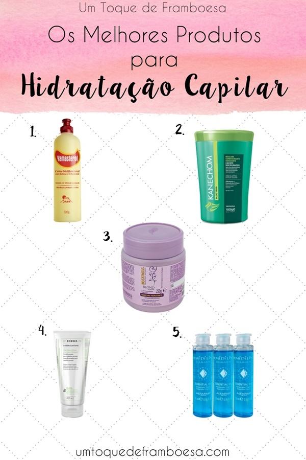 Os melhores produtos para a fase de Hidratação do Cronograma Capilar