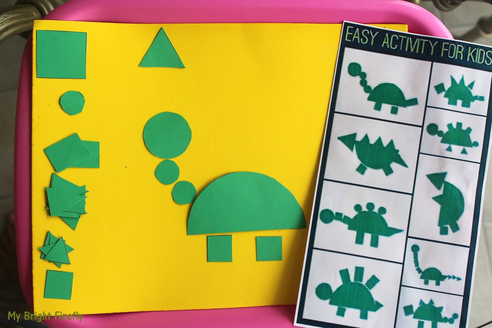 My Bright Firefly Dinosaurs Sight Words Can And Look