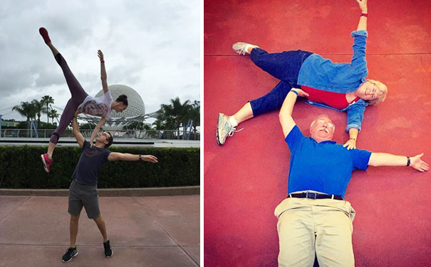 40 Photos Of The Most Hilarious Parents You Will Ever Meet - Friend Went To Disney World And Posted This Pic. His Parents Responded