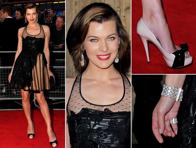 Milla Jovovich's NSFW Red Carpet Nipple Slip | Ellicson's ...