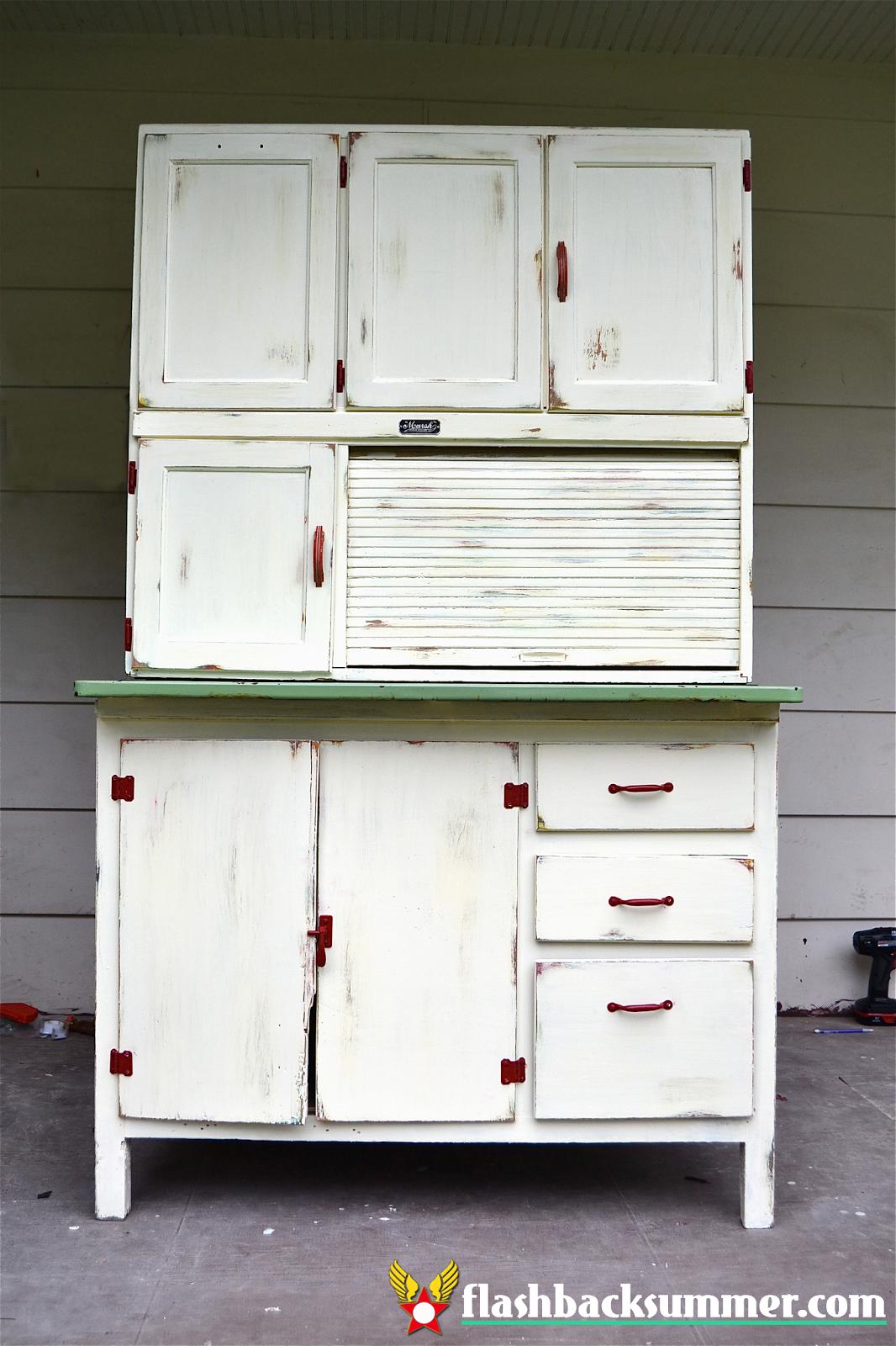 a hoosier cabinet makeover flashback summer. Black Bedroom Furniture Sets. Home Design Ideas