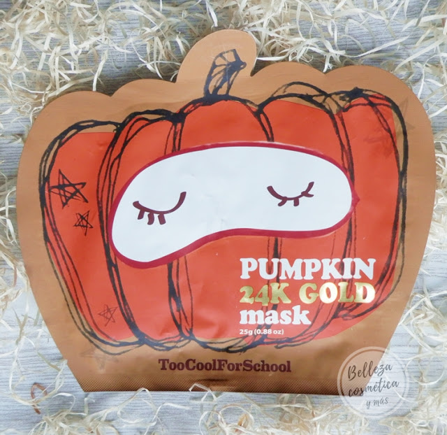 Pumpkin Mask 24k Gold Too Cool For School | Mascarilla de calabaza con oro