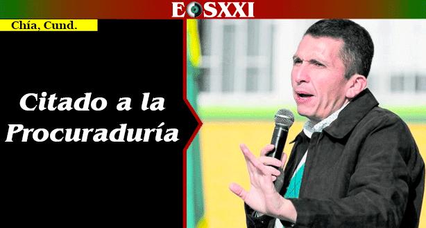 A juicio disciplinario alcalde de Chía por contrato de alumbrado
