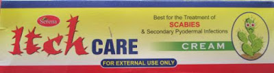 Itch care cream for scabbies