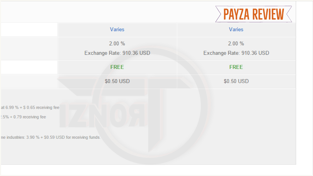 Payza review | Payza features | payza » TRONZI