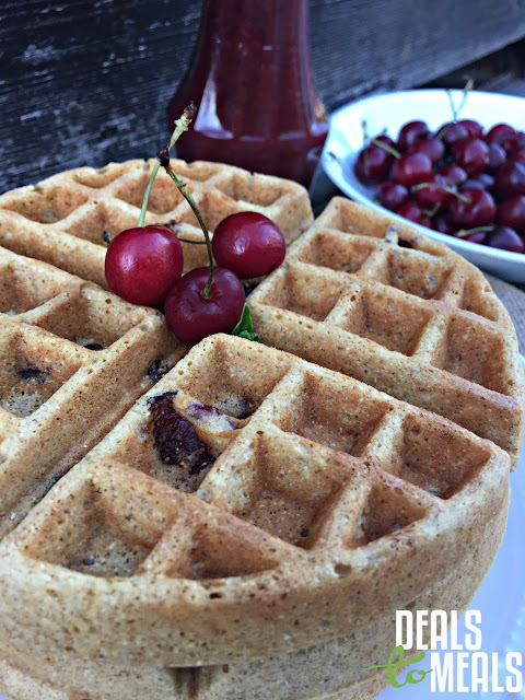 Deals to Meals, Recipe: Breakfast, Recipe: Food Storage, Recipe: Healthy, Cherry Jubilee Waffles with Cherry Syrup