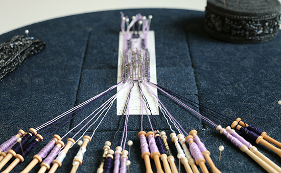 Bobbin Lace Bookmark in Progress