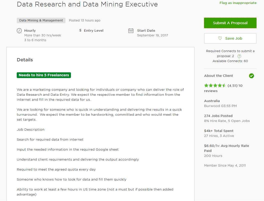 Cover Letter Sample For Data Miningyst Extraction