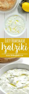 Easy Homemade Tzatziki Sauce www.thebusybaker.ca