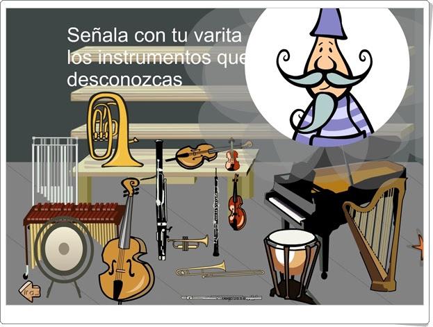 """""""Señala los instrumentos musicales"""" (Educación Musical de Primaria)"""