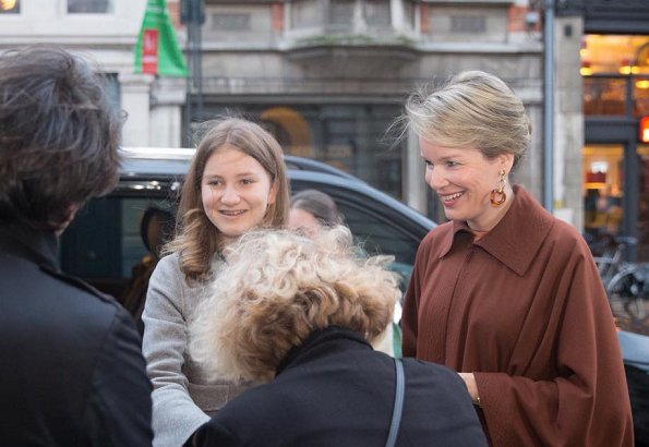Queen Mathilde and Crown Princess Elisabeth attended Bach's Cello Suites modern dance performance