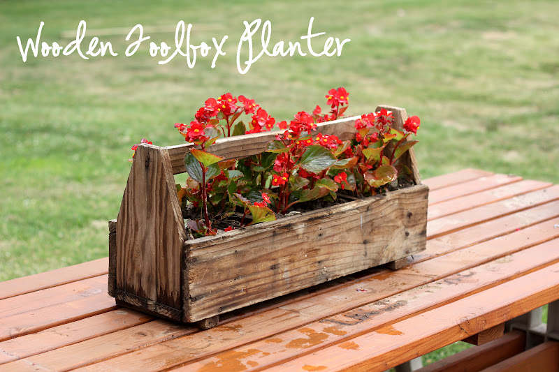 Embellishments Project Post 24 Wooden Toolbox Planter