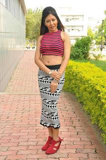 Ritya in a Red Transparent Tops At Pochampally IKAT Art Mela Launch